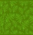 vintage fern leaf seamless wild forest pattern vector image vector image