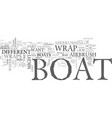 what is a boat wrap text word cloud concept vector image vector image