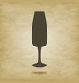 wine glass vector image vector image