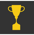 winner cup flat icon golden symbol of win vector image