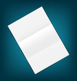 Empty paper sheet with shadows on blue background vector image