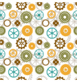 seamless background of color gear wheels vector image