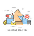 marketing strategy promotion campaign vector image