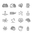 artificial intelligence robotics icons collection vector image vector image
