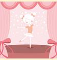 beautiful ballerina ballet on stage vector image