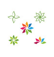beauty icon flowers design vector image vector image