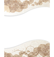 Beige background with petals pattern vector image