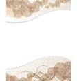 Beige background with petals pattern vector image vector image