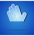 Binary code Palm vector image