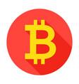 bitcoin circle icon vector image vector image