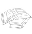 black and white of two books vector image