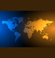 blue and orange global map background vector image vector image