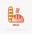 bread thin line icon modern vector image