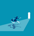businesswoman running to goal concept business vector image vector image