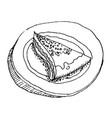 cake design element shabby food image sketch vector image vector image