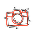 camera device sign icon in comic style vector image