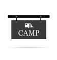 camp sign with trailer vector image vector image