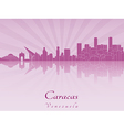 Caracas skyline in purple radiant orchid vector image vector image