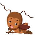 cartoon cockroach sick vector image vector image