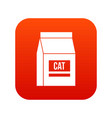 cat food bag icon digital red vector image vector image