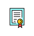 certificate diploma icon vector image