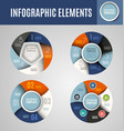 circle infographics set 1 vector image vector image