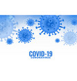 covid19 coronavirus infection spreading pandemic vector image vector image