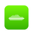 cruise ship icon digital green vector image vector image