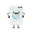 cute kawaii washingmachine vector image
