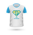 dad superhero t-shirt front view isolated vector image vector image