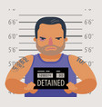 detained dangerous criminal prisoner convicted vector image