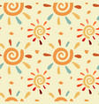 doodle sun pattern vector image vector image