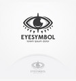 eye logo design template vector image vector image