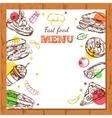 Fastfood Restaurant Menu Design vector image vector image