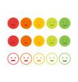 feedback emoticon emoji smile icon vector image vector image
