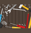flat repair icon set mechanic service concept vector image vector image