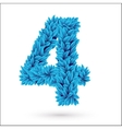 Four 4 number vector image