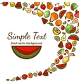 fruit pattern background vector image vector image
