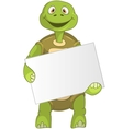 Funny Turtle Holding Box vector image