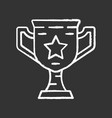 gamer winning cup chalk icon virtual video game vector image vector image