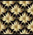 gold 3d floral seamless pattern golden vector image vector image