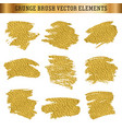 gold hand drawn grunge brush texture elements vector image vector image