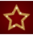 gold star shining light vector image vector image