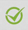 green checkmark icon vector image vector image