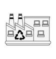 green factory symbol vector image vector image