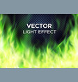green fire flames on transparent background vector image