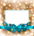 Greeting elegant card with Christmas decoration vector image vector image