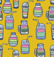 Hand drawn smoothie seamless pattern vector image
