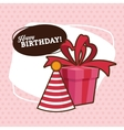 Happy Birthday design party hat icon Colorfull vector image
