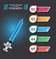 health icon syringe medical infographic vector image